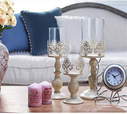 Candle Glasses Wholesale Australia - 3 Size Elegant Candle Holder Cube Stand Candle Candlestick Metal Base Craft Votice large Glass Candles Wedding Candle Holders