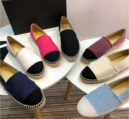 $enCountryForm.capitalKeyWord Australia - women Designer shoes leather Espadrilles flat shoes two tone cap toe classic Loafers Real Lambskin Summer trainers Original box+Card+Dust ba