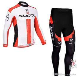 $enCountryForm.capitalKeyWord Australia - LAMPRE KUOTA team Cycling long Sleeves jersey (bib) pants sets 3D Gel Pad Breathable Bike Clothes Ropa Ciclismo C1408