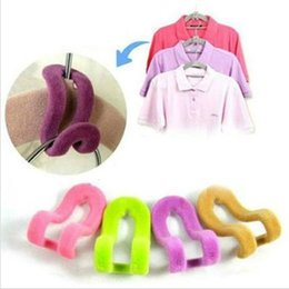 shirt hangers NZ - New Arrival Mini Closet Velvet Hook Non-slip Thin Clothes Clothing Hanger Random Color Coat Hanger Hook