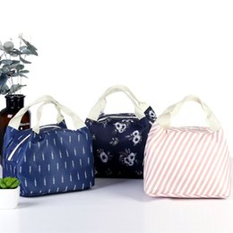 Aluminum flower online shopping - Flower Color Waterproof Oxford Lunch Box Bag Thermal Insulation Flamingo Wrap Aluminum Foil Twill Package Zipper High Capacity gnb1