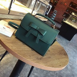 $enCountryForm.capitalKeyWord NZ - Pretty2019 Bow Summer Portable Small Square Pu A Leather Bag Single Shoulder Messenger Woman Package