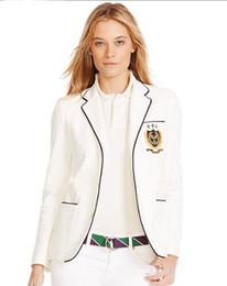 $enCountryForm.capitalKeyWord NZ - Global Spring Autumn Women Polo Jacket Blazer All England Club Tennis Jackets for Ladies Long Sleeve Girls Solid Coats White