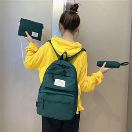cream school NZ - 3 set School Bags for Teenage Girls Kids Children Student Backpack Travel Teen Shoulder Bag Child Schoolbag New Women backpack