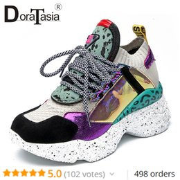$enCountryForm.capitalKeyWord NZ - Doratasia New 35-42 Genuine Leather Suede Sneakers Women 2019 Summer Horsehair Platform Dad Shoes Casual Flat Women Shoes Woman MX190819