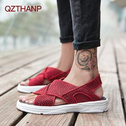 $enCountryForm.capitalKeyWord Australia - Fashion Style Man Sandals Casual Flat Heels Shoes Summer Male Flats Adult Shoes Men High Quality Waterproof Light Zapatos Hombre