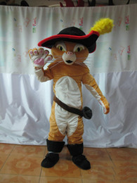 puss boots cat costume UK - newHalloween Puss The Boots Cat Mascot Costume High Quality Cartoon brown Cat Anime theme character Christmas Carnival Party Fancy Costumes