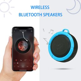 Wireless Bluetooth Handsfree Waterproof Mic Suction Mini Speaker Shower Bath C6 Wireless Potable Audio Player Waterproof Bluetooth Speakers