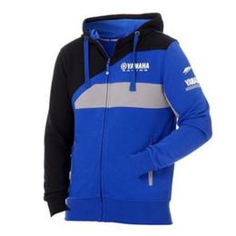 Vente en gros Veste de coton zippée à capuche pour hommes MOTO GP pour YAMAHA usine sport équitation moto sweat coupe-vent veste de motocross