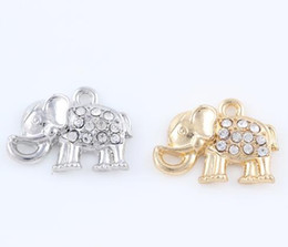gold memory charm locket NZ - 20PCS lot 16x33mm (Gold,Silver Color) Animal Elephant Hang Pendant Charms Fit For Magnetic Memory Floating Locket
