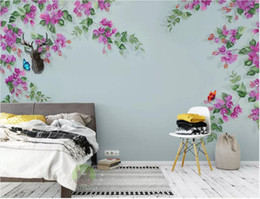 chinese hand paintings Australia - 3d room wallpaper custom photo mural Chinese style hand-painted pen and flower background wall art pictures wallpaper for walls 3 d