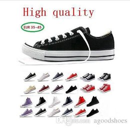Cool Canvas Shoes High NZ - New size35-46 New Unisex Low-Top & High-Top Adult Women's Men's Canvas Shoes 13 colors Laced Up Casual Shoes cool Sneaker shoes