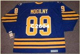 ce96ba5cc Mens  89 ALEXANDER MOGILNY Buffalo Sabres 1992 CCM Vintage Retro Away Hockey  Jersey or custom any name or number retro Jersey