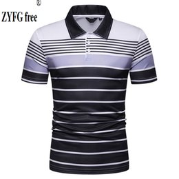 $enCountryForm.capitalKeyWord NZ - ZYFG FREE Men's casual short sleeve polo shirts turn-down collar stripe cotton polyester blend polo shirt home men's tops