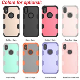 e4e1bd6e44 Hybrid 3 in 1 Robot TPU Commuter Defender Armor Case Cover For iPhone X Xr  Xs Max 8 7 6 6S Plus Samsung S10 Plus S9 Plus Note 8 9 free DHL