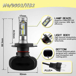 h4 headlight conversion Australia - CAR H4 Led Headlight Bulbs 50W 8000LM 6000K All-in-one Conversion Kit Chips Bulb for DRL Fog Lights White