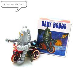 Robô clássico Estanho Wind Up Clockwork Brinquedos Elétrico Bebê Robô Wind-up Estanho Brinquedo Para Crianças Adultos Coleção Educacional Presente SH190913 em Promoção