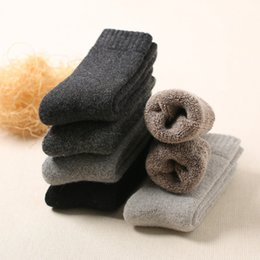 c6ac9e37f52 34% Men Winter Wool Socks Pure Cashmere Coarse Thread Towels Socks 3pair  Wholesale Thickening Warmth 38-44