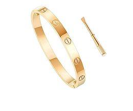 $enCountryForm.capitalKeyWord Australia - Classic luxury designer jewelry women bracelet with crystal mens gold bracelets stainless steel 18k love bracelet screw bangle bracciali