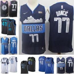 2019 NEW MEN 77 Luka   Doncic New Mavericks Jersey Dirk 41 Nowitzki  Stitched Jerseys S-2XL be2bbe2f0