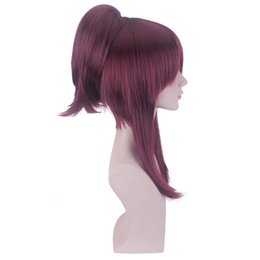 China Hair Care Wig Stands Women's Fashion Wig Dark Red Anime Medium Rose Net Wigs 21.7 inches Cosplay Rose Net Party Feb19 cheap anime wigs red suppliers