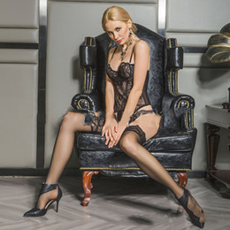 $enCountryForm.capitalKeyWord Australia - Fashion Sexy Underwear for Elegant Lady Appealing Body Shaping Underwear Temptation Lace Sling Perspective Plus Size Vest Suit 2 Style