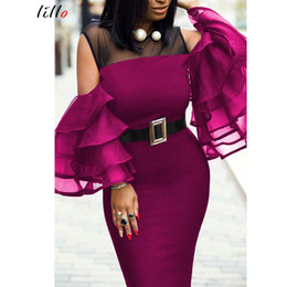 $enCountryForm.capitalKeyWord Australia - Plus size African women's party dress Spring and summer new sexy perspective tight-fitting hip dress stitching sexy dress T5190608