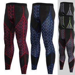 Running Stretch Tight Australia - 2019 Men\'s and Women\'s Sports Pants Stitching Cloth Quick-drying Tight Stretch Tight Pants Running Fitness Sportswear