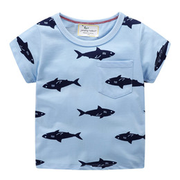$enCountryForm.capitalKeyWord NZ - Jumping meters Summer Brand Animals Print Boys T shirts fish cotton Kids clothes short sleeve new models tees tops baby boy wear