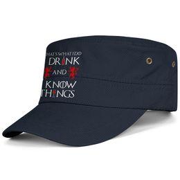 $enCountryForm.capitalKeyWord Australia - Womens Mens Flat-along Adjustable Game of Thrones Rock Punk Cotton Baseball Hats Bucket Sun Hats Cadet Army Caps Airy Mesh Hats For Men Wome