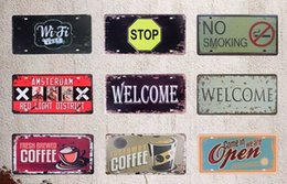 Tin car plaques online shopping - New United States Car Metal License Numbers Plate Vintage Home Decor Tin Sign Bar Pub Garage Decorative Metal Sign Metal Painting Plaque