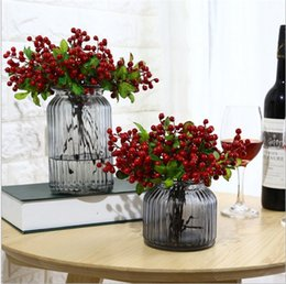Wholesale Berry Simulation Flower Berry Blueberry Fruit Living Room bonsai blueberry tree seeds plant for