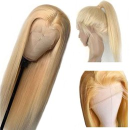 Blonde highlight hair online shopping - PrePlucked Lace Frontal Wig Ombre Brazilian Brown and Honey Blonde highlights Closure Wig Remy Lace Front Human Hair Wigs