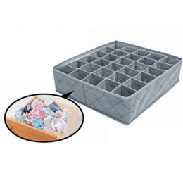 tie sock organizer Canada - 30 Grids Underwear Storage Box Closet Bra Socks Ties Storage Organizer Boxes Container Divider Organizing Box