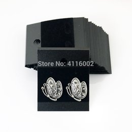 Black jewelry display cards online shopping - 2000pcs cm Plastic Velvet Earring Ear Studs Holder Display Hang Cards Black Jewelry Stores Necessities