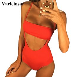 $enCountryForm.capitalKeyWord NZ - New Yellow Ribbed Bikini Bather 2019 two pieces swimsuit High Waist Bikini set Swimwear Women Bathing Suit female V660
