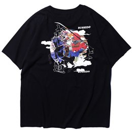 27c6ce2882 2019 Men Hip Hop T Shirt Japanese Bushido Samurai Knight Tshirt Streetwear  Harajuku Summer T-Shirt Short Sleeve Cotton Tops Tees