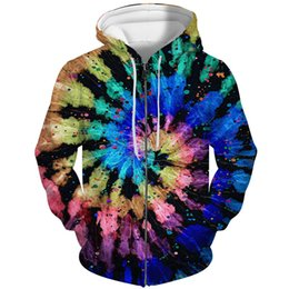 $enCountryForm.capitalKeyWord Australia - YFFUSHI 2019 3d Hoodie Men Zipper Coat Men Cool Casual Tie-dye Casual Hooded Hoodies Jacket Sweatshirts Male 5XL 3D Jacket