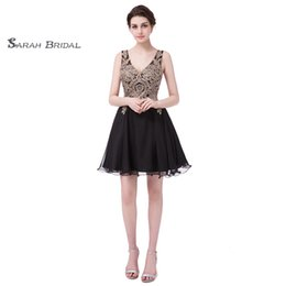 $enCountryForm.capitalKeyWord Australia - 2019 Black Graduation Dresses Lace Chiffon Backless Mini Prom Party Queen Beaded Cocktail Dress Gowns Homecoming Dress LX418
