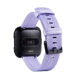 Canvas band strap online shopping - For Fitbit Versa Lite Replacement Watch Strap Bands Sport Canvas Nylon Braided Straps Band Bracelets color