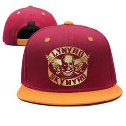 Vintage Golf Australia - Lynyrd Skynyrd rock Flash gold Design Snapback Flat Bill Brim Baseball Cap Hip-Hop Dad Hats Adjustable Vintage