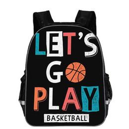 $enCountryForm.capitalKeyWord Australia - 11 13 16 Inch Ball Print Children Backpack Student Bookbag for Kids Boys Basketball Back Pack Mochilas