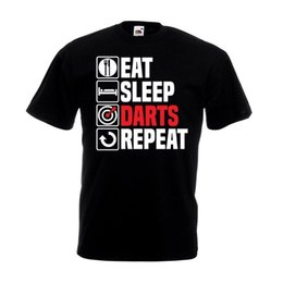 $enCountryForm.capitalKeyWord UK - Eat Sleep Darts Repeat T Shirt Funny Dart Board Set Pub Dad Christmas Gift TopFunny free shipping Unisex Casual Tshirt top
