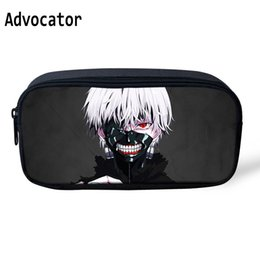 cartoon ghouls NZ - ADVOCATOR Cartoon Tokyo Ghoul Primary Printing Pen Bag for Children Makeup Case Professional Student School Pencil Bag Organizer