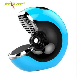 Microphones Built Speakers Australia - New Arrival ZEALOT S33 Wireless Mini Speakers 3D Stereo Portable Snail Bluetooth Speaker Subwoofer Built-in Microphone