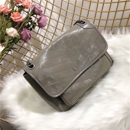 genuine leather women bag big sale UK - Brand fashion crossbody bags big capacity message bags hot sale women real leather chain shoulder bags herringbone flip cover handbags