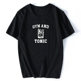 vintage black tee Australia - Gym and Tonic Harajuku Streetwear Summer Clothing O-Neck Tees Tops Aesthetic Men Tumblr Vintage Vogue Black T Shirt