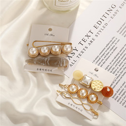 $enCountryForm.capitalKeyWord Australia - New Korea Hair Clips 2019 For Women Girl Simulated-pearl Shell Hairpins Set Gold Color Female Hairwear Fashion Barrette Jewelry YMCJH006