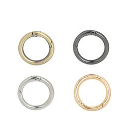 $enCountryForm.capitalKeyWord Australia - 4Pcs Metal Clasp Turn Lock Twist Round Ring Circle Spring Snap DIY Keyring Hook Bag Buckle Handbag Purse Parts Accessories