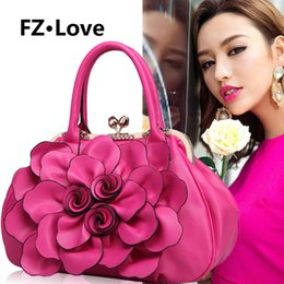 handbag rose lady NZ - Women's Tote Bag Rose Flower Bags Wedding Handbag for Ladies Crossbody Bag Handle Purse Diamonds Evening Party Shoulder Bags